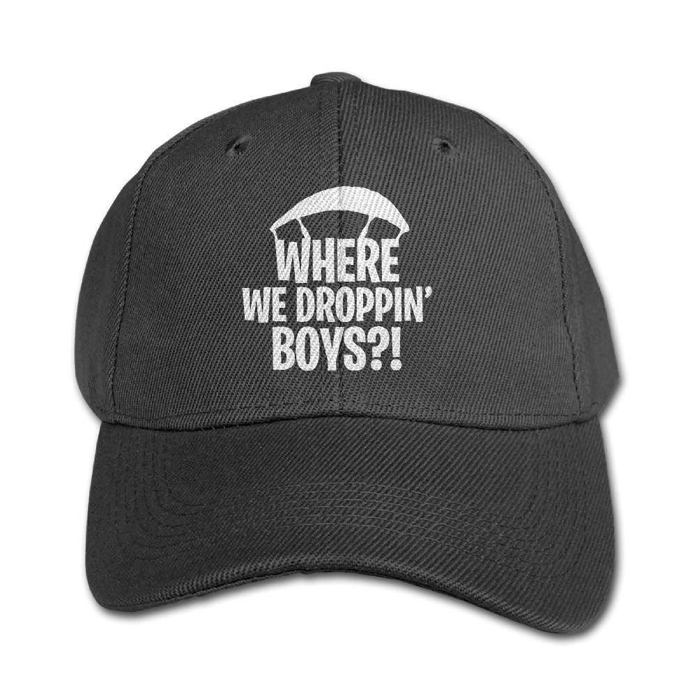 Mollie Storey Where We Droppin' Boys Travel Hat Twill Cap For Kids Black