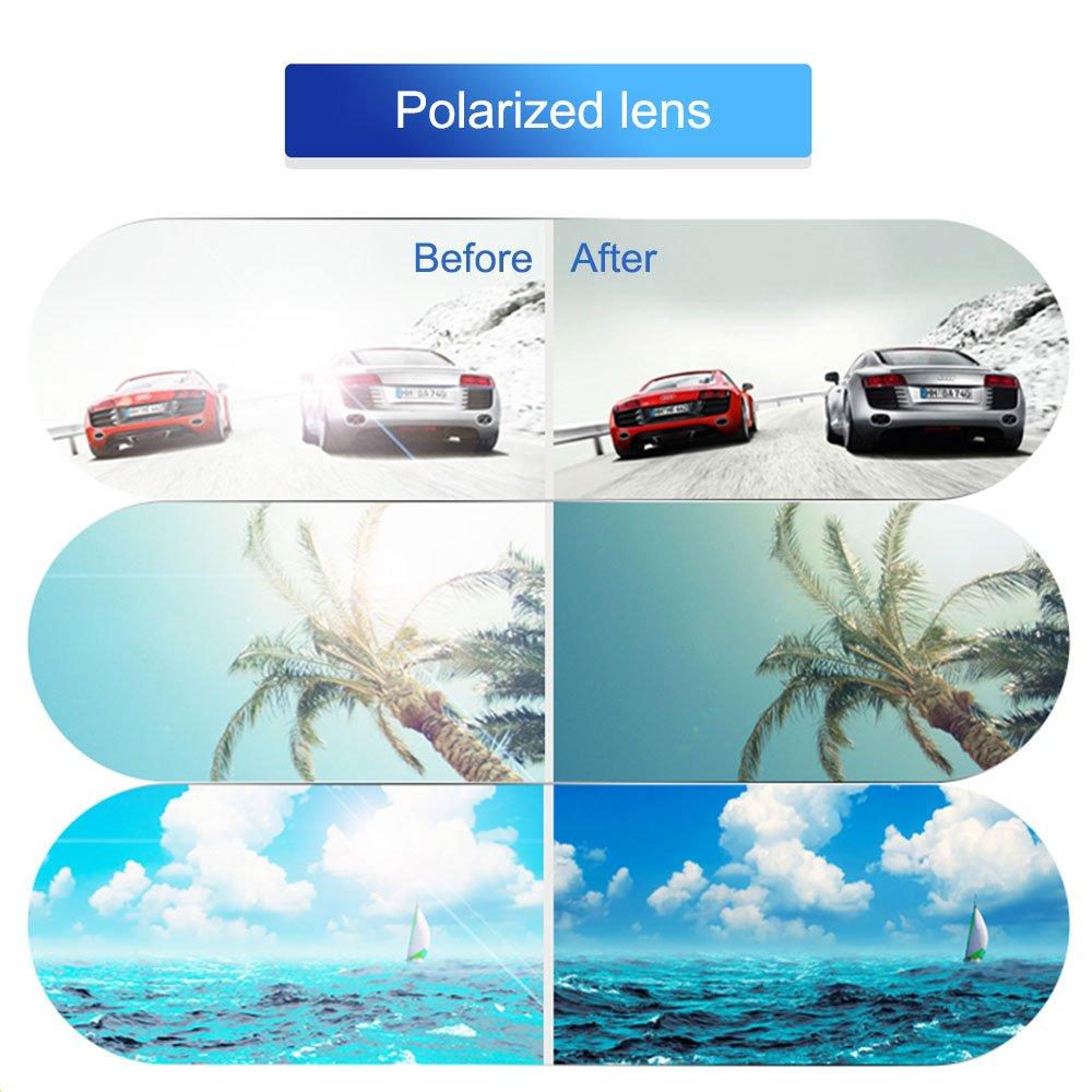 fa721e09cb Polarized Clip-on Sunglasses Over Prescription Glasses Anti-Glare UV400 for  Men Women Driving Travelling Outdoor Sport  … TERAISE