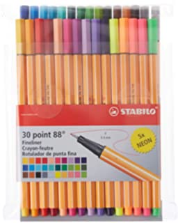 Amazon.com: Stabilo Point 88 30-Color Rollerset: Office Products