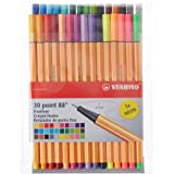 Stabilo Point 88 Fineliner Pens, 0.4 mm - 30-Color Set