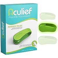 Aculief - Prijswinnende Natuurlijke Verlichting bij Hoofdpijn, Migraine, Spanning Wearable Acupressure – Ondersteunt…