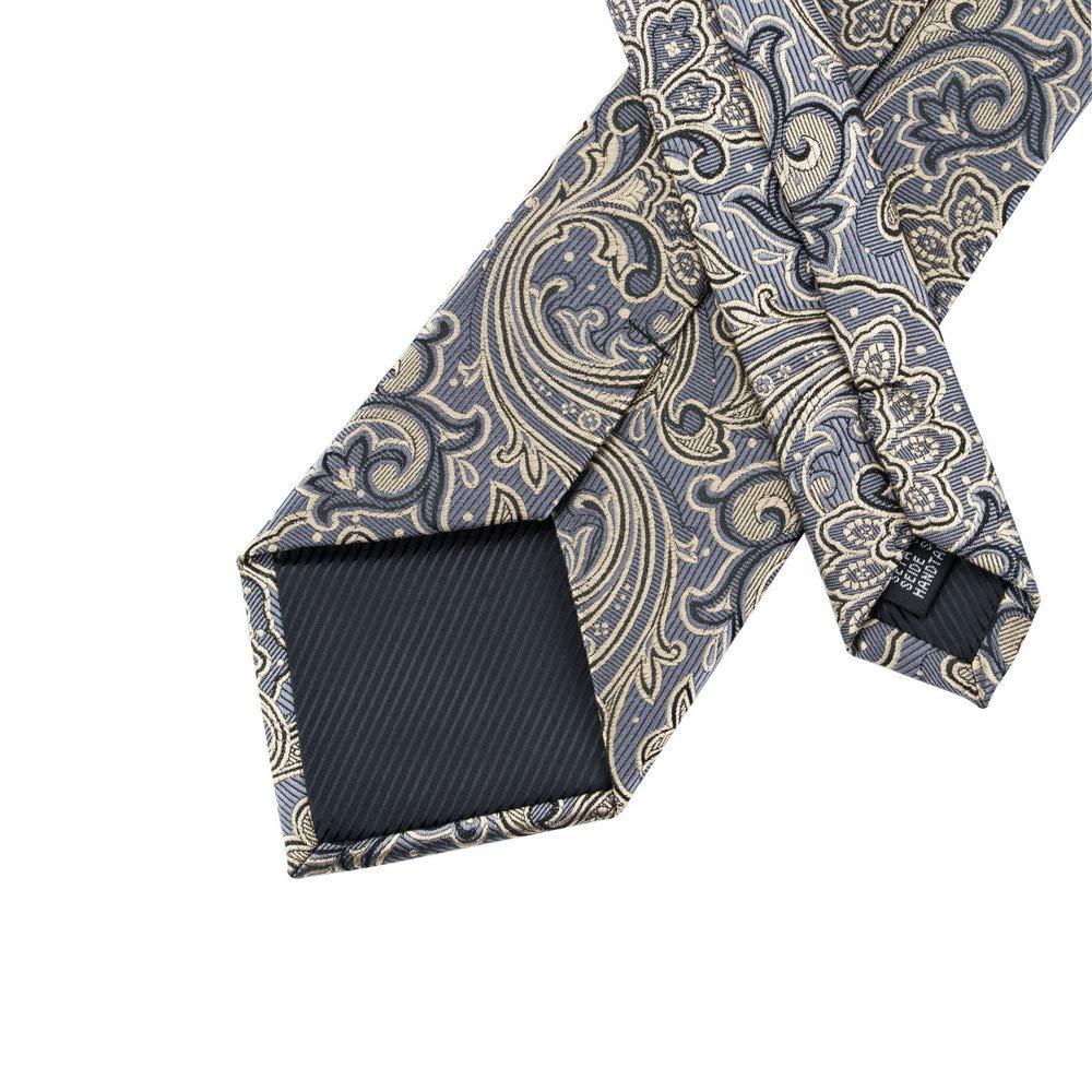 Barry.Pa/ñuelo de bolsillo de corbata de seda amarilla Wang para hombre Corbata de Paisley con gemelos