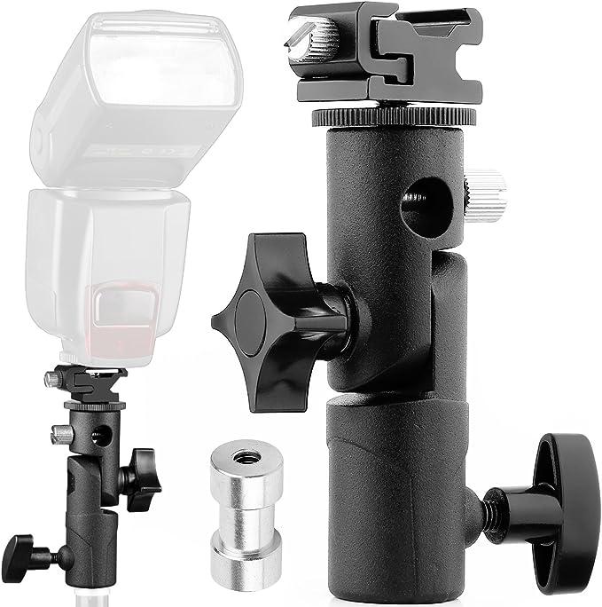 Anwenk Flash de cámara Speedlite Soporte giratorio para soporte ...
