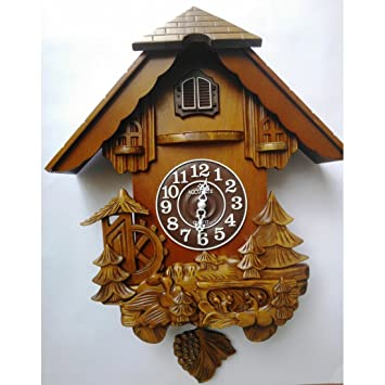 Buy Mebelkart Forest home pendulum wall clock Online at Low Prices