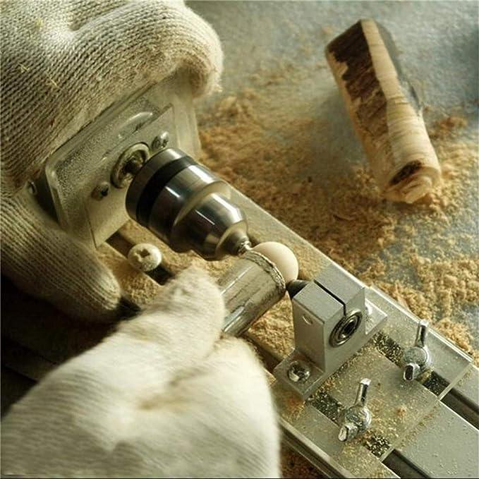 NEW Mini Lathe Beads Polisher Machine DIY Woodworking Rotary Tool 12-24V 100W DC