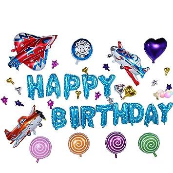 Amazon.com: Da Jia bebé cumpleaños Globos de aluminio Set ...