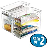 "Amazon Price History for:mDesign Refrigerator, Freezer, Pantry Cabinet Organizer Bins for Kitchen, 10"" x 5"" x 8"", Pack of 2, Clear"