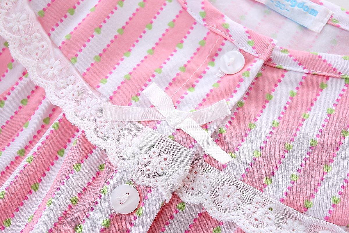 Mud Kingdom Girls Pajamas Set Lace Long Sleeve