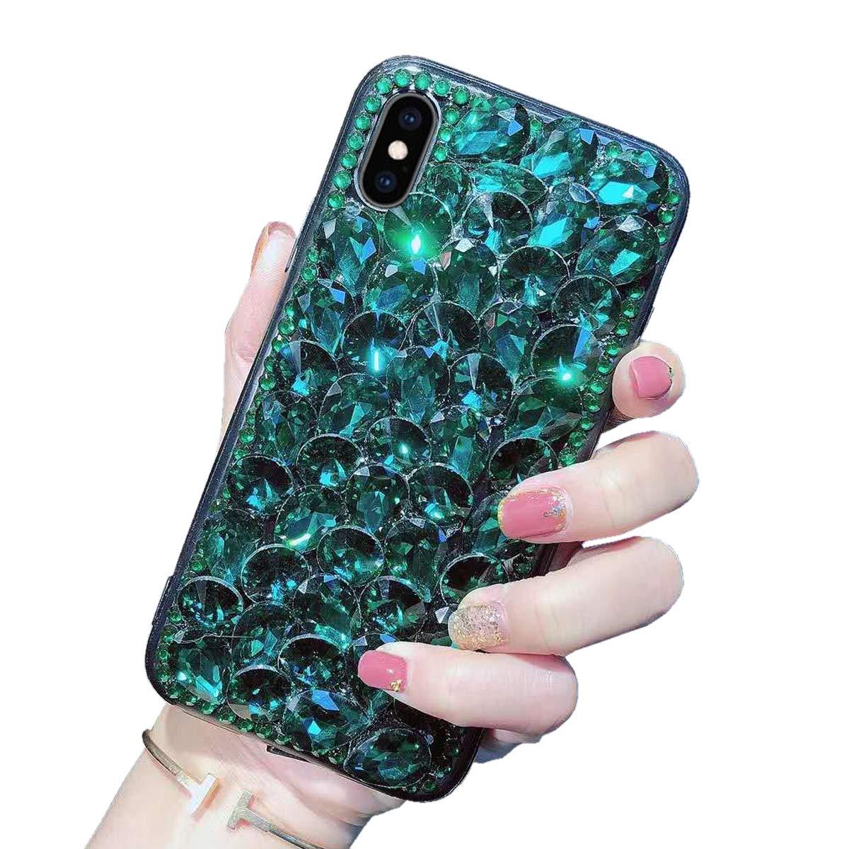 Luxus Glitzer Hü lle fü r iPhone 7/ iPhone 8, Misstars 3D Bling Diamant Handyhü lle Transparent Hart PC Rü ckschale mit Silikon TPU Rahmen Schutzhü lle fü r Apple iPhone 7/8 (4,7 Zoll), Silber