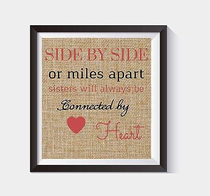 Amazoncom Boston Creative Company Sister Quote Print Sister Gift