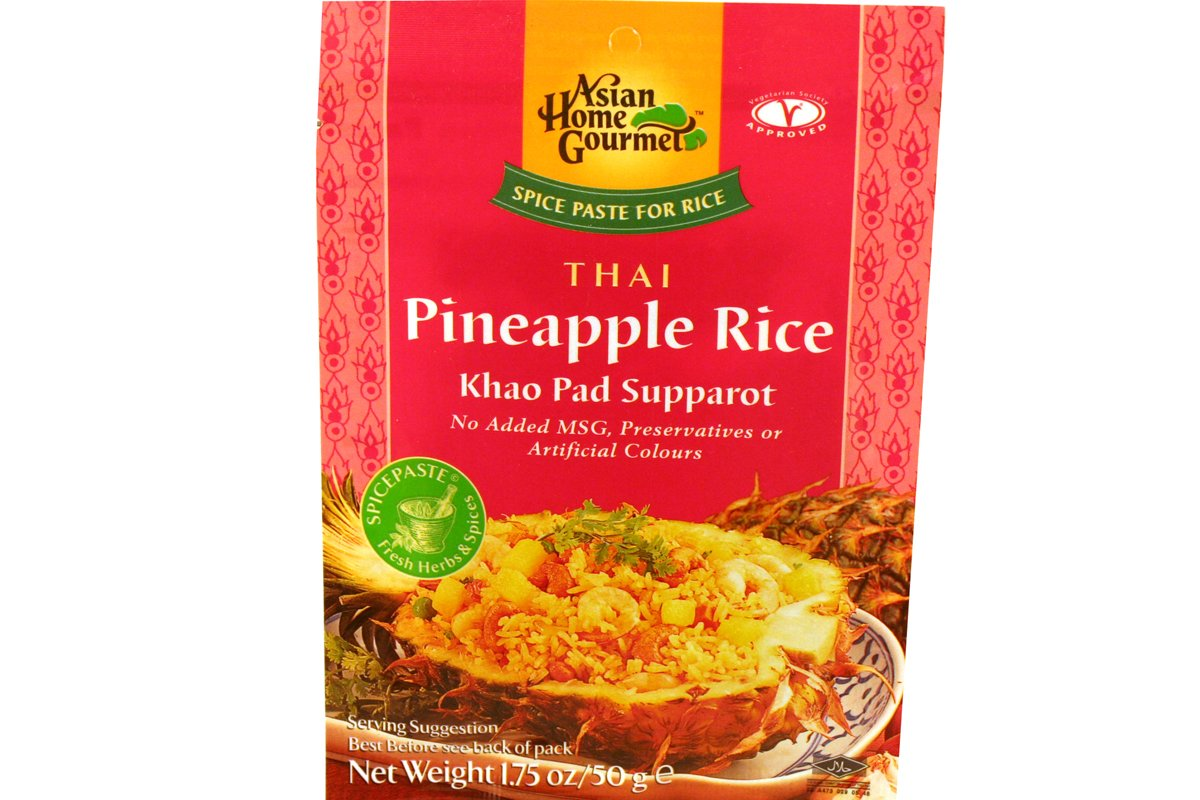 Asian Home Gourmet Spice Paste for Rice: Thai Pineapple Rice (Khao Pad Supparot) (1 x 1.75 OZ)