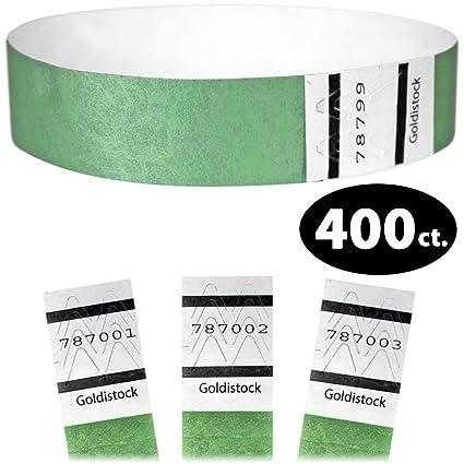 06e7d5840acc goldistock - 3/10,2 cm Tyvek pulseras 400 Count - Evento Bandas de ...