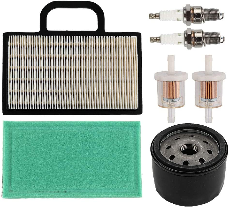 Coolwind 698754 273638 Air Filter 691035 Fuel Filter 696854 Oil Filter Spark Plug for Briggs & Stratton Intek Extended Life Series V-Twin 18-26 HP Lawn Mower