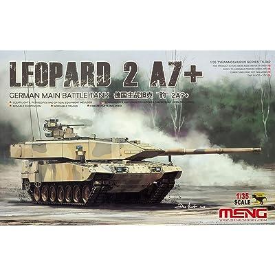 MNGTS042 1:35 Meng Leopard 2A7+ German Main Battle Tank [Model Building KIT]: Toys & Games