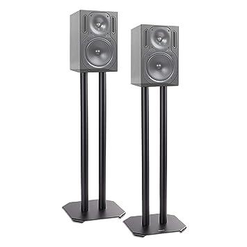 Duronic Sps1022 60 Twin Lautsprecherständer Schwarze Metall Basis