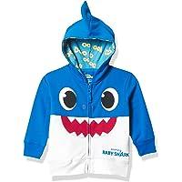 Pinkfong Boys Baby Zip Up Big Face Hoodie-Daddy Shark