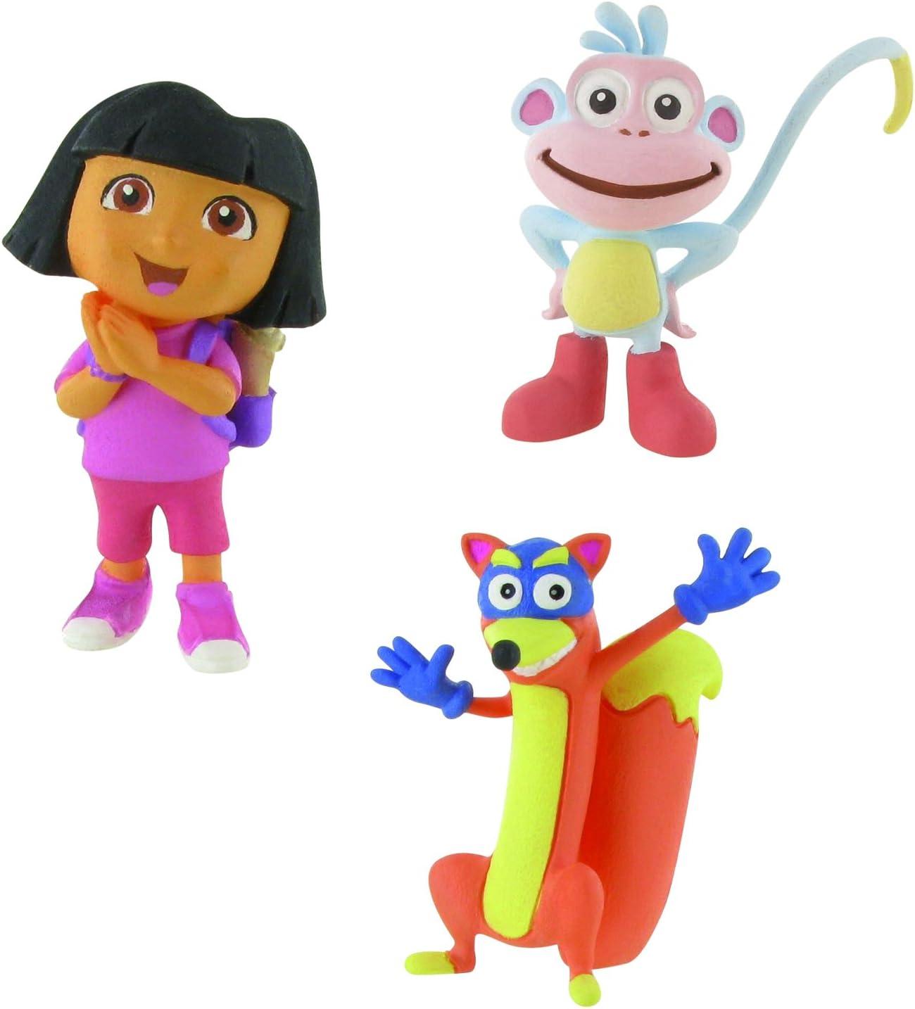 Comansi Lote 3 Figuras Dora la Exploradora - Dora Ilusión - Botas ...