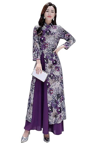Amazon.com: Aries Tuttle - Vestido largo para mujer, estilo ...