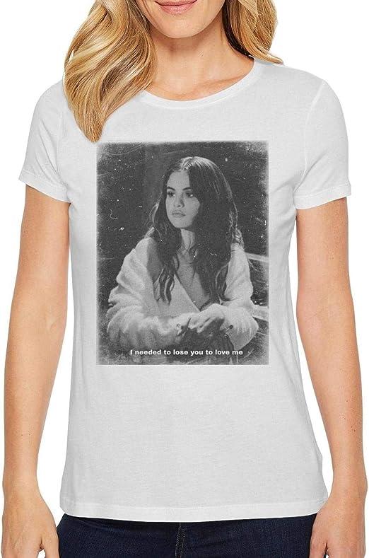 Cfgerends Sele-na Gomez Mens Basic Short Sleeve T-Shirt Cotton Shirts Home Office