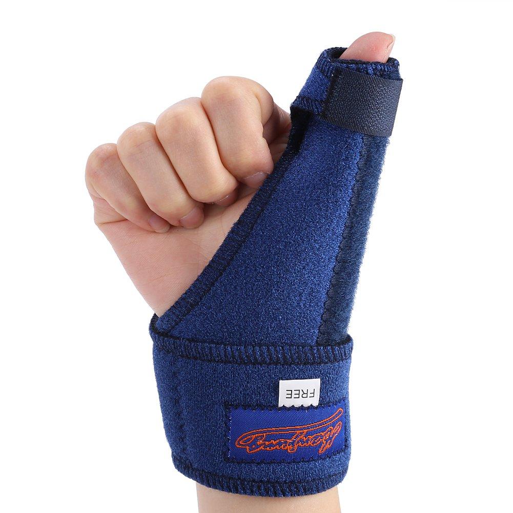 Thumb Aluminium Splint Brace, Arthritis or Soft Tissue Injuries Aid Tools, Right Hand and Left Hand Use