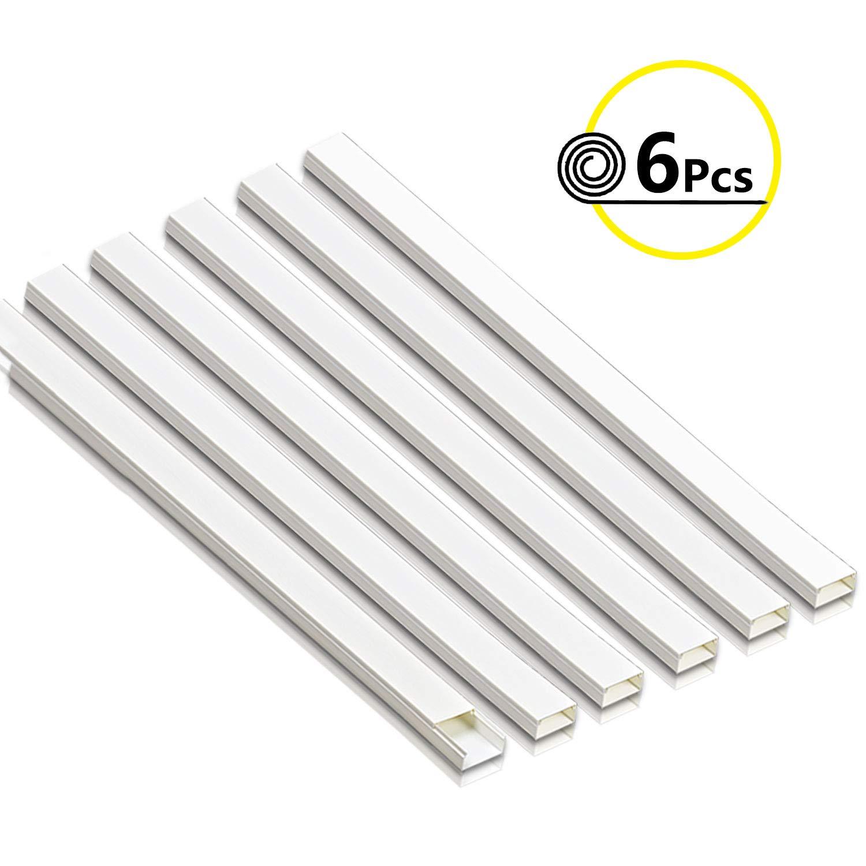 autoadhesiva, 22 x 12 mm, PVC, 1 m Color Blanco Habengut Canaleta para Cables