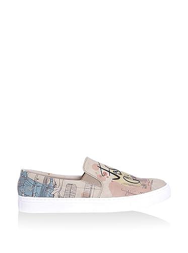 ZQ Zapatos de mujer - Tac¨®n Bajo - Puntiagudos - Planos - Exterior / Oficina y Trabajo / Casual - Semicuero - Negro / Plata / Gris , gray-us6 / eu36 / uk4 / cn36 , gray-us6 / eu36 / uk4 / cn36