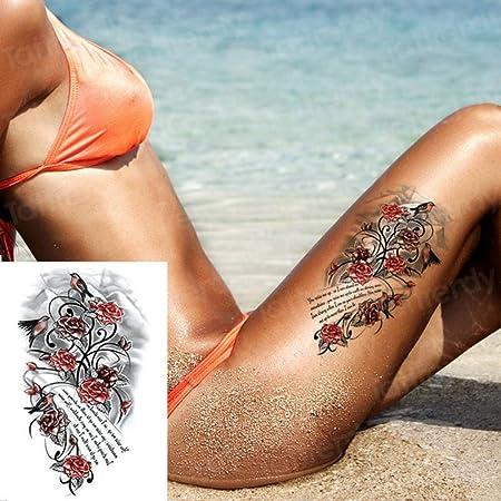 Handaxian 3 Piezas Tatuaje Impermeable Chica Cuerpo Mano pequeña ...