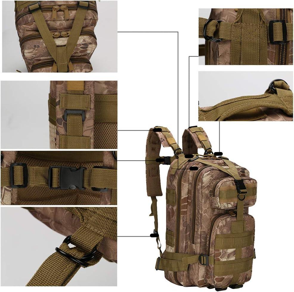 Ketamyy Sac A Dos Tactique Militaire Camouflage Imperm/éable Durable Multi-Poches Plein Air Trekking Randonn/ée Survivre Combat Commando Molle Ordinateur 30L Homme Femme Arm/ée Verte