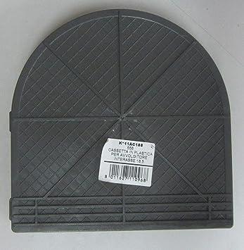 Caja de plástico PVC para enrollador de persiana estándar de 185 mm.: Amazon.es: Bricolaje y herramientas