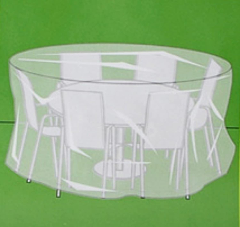 Idea hogar: funda redonda para mesa de jardin con sillas 213x76 cm ...