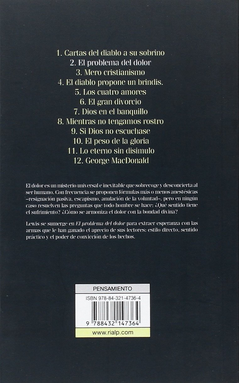 El problema del dolor (Bibilioteca C. S. Lewis): Amazon.es ...