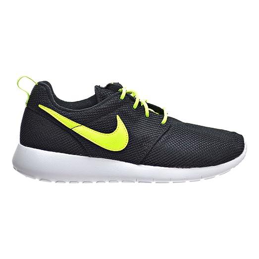 Nike Roshe Un Gs Grand Noir / Volt / Blanc