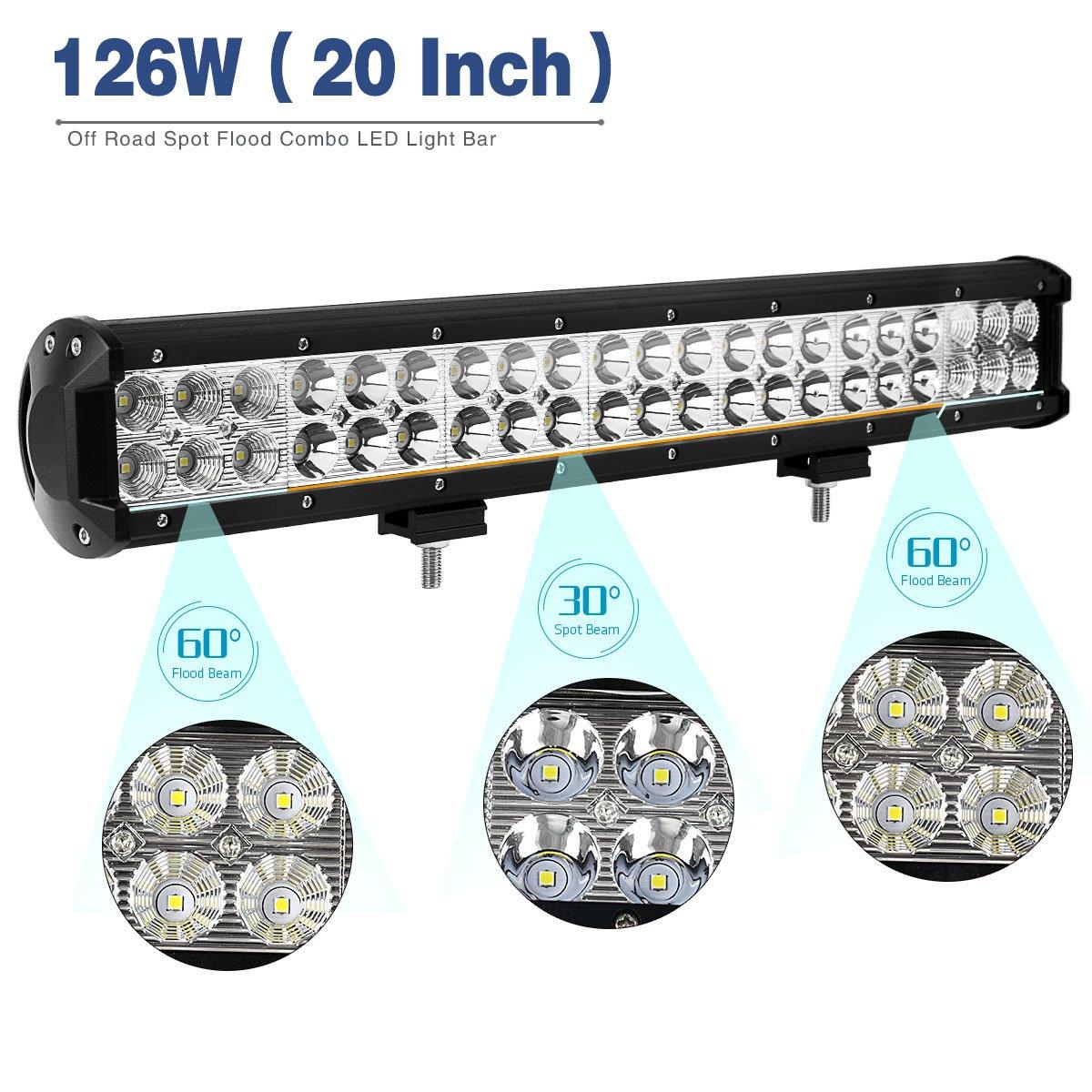 Amazon.com: YITAMOTOR 20 inch LED Light Bar Spot Flood Combo ...