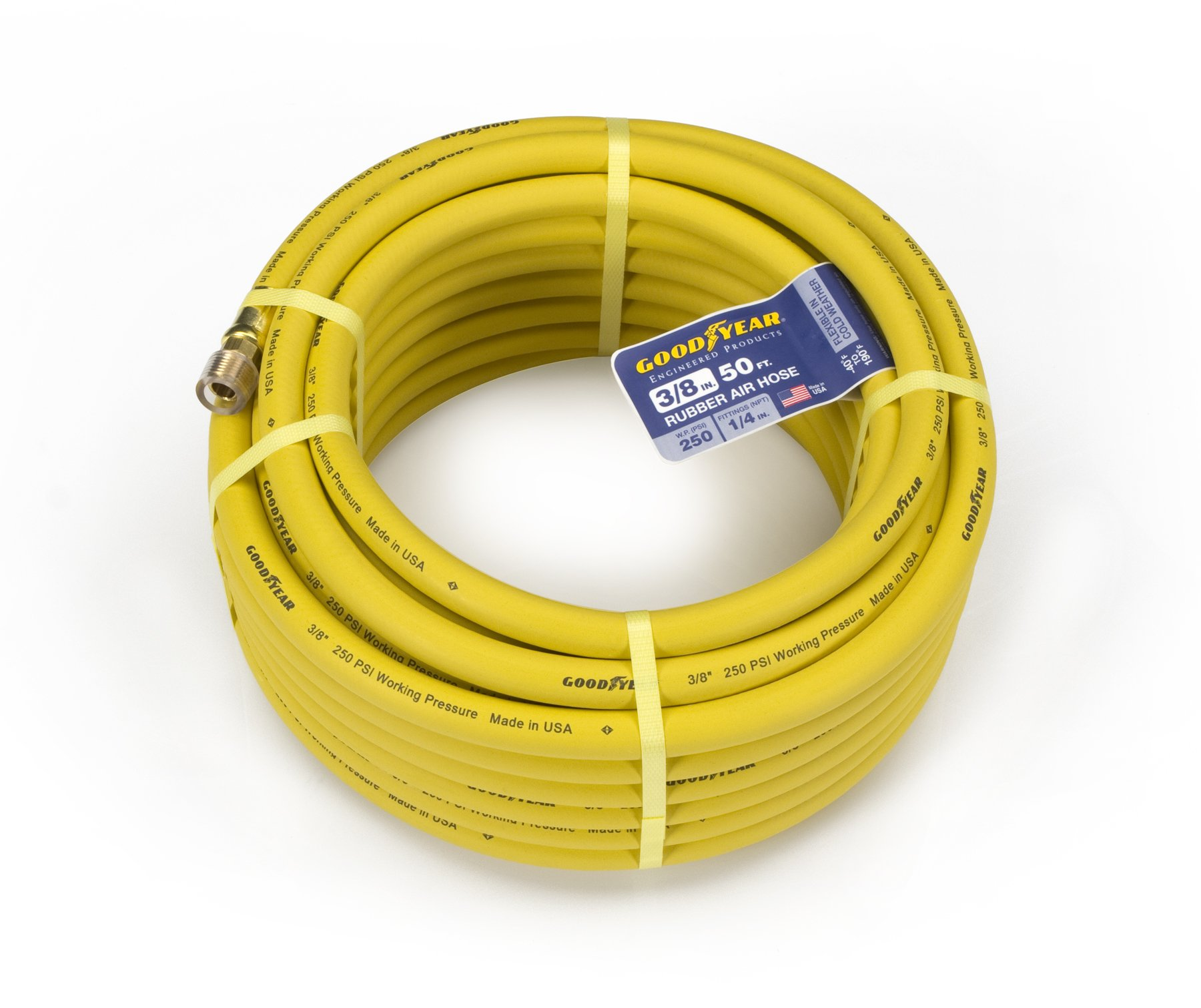 Goodyear EP 46502 3/8-Inch by 50-Feet 250 PSI Rubber Air Hose with 1/4-Inch MNPT Ends | 0020209465028 - Buy new and used Home Improvements books and more ...  sc 1 st  BIGWORDS.com & Goodyear EP 46502 3/8-Inch by 50-Feet 250 PSI Rubber Air Hose with 1 ...