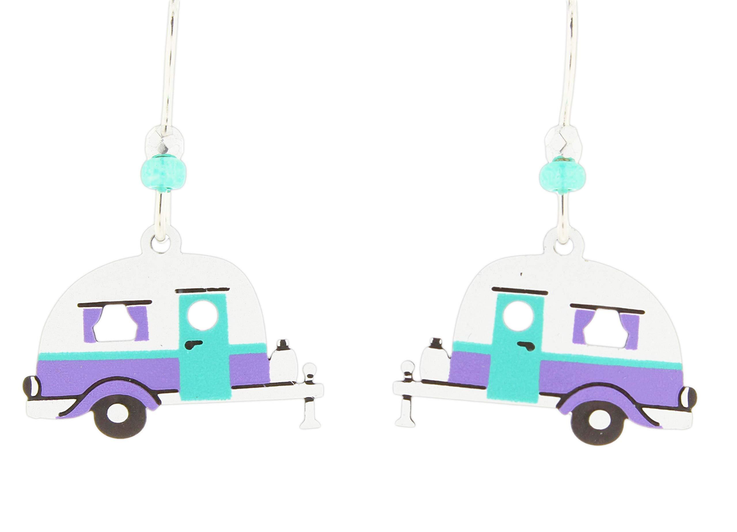 Sienna Sky RV Trailer Dangle Earrings (White)