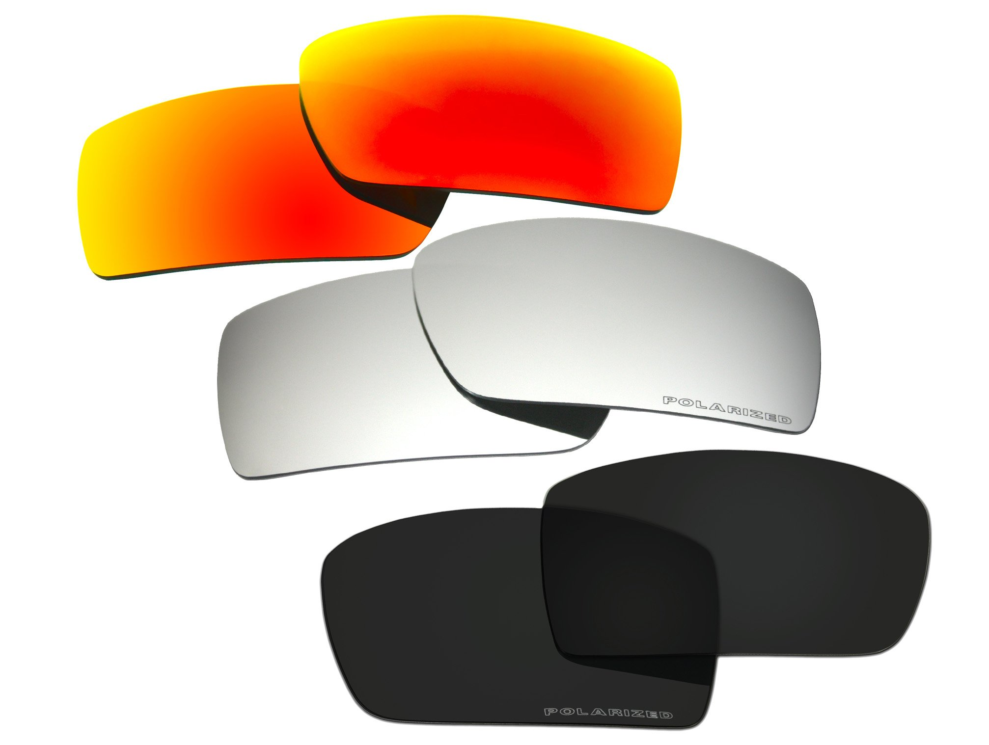 3 Pairs Polarized Replacement Sunglasses Lenses for Oakley Gascan with Excellent UV Protection by C.D
