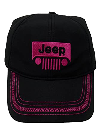 f83959f6dd6 Image Unavailable. Image not available for. Color  Jeep Girl Black Pink Grille  Cap