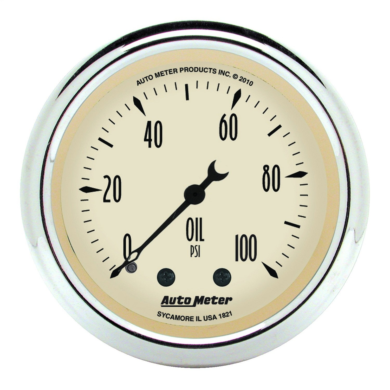 Auto Meter 1821 Antique Beige Mechanical Oil Pressure Gauge by AUTO METER