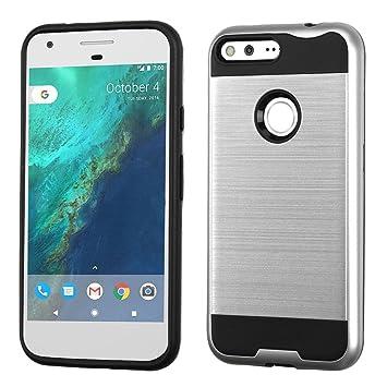 Asmyna - Carcasa para Google Pixel XL, Color Plateado y ...