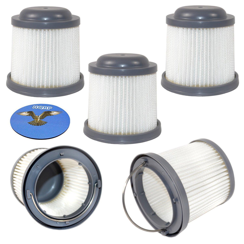HQRP 5-Pack Washable Filter for Black & Decker HFVB320J27, HFVB315J22 DUSTBUSTER Lithium Flex Hand Vacuum PVF110 Coaster