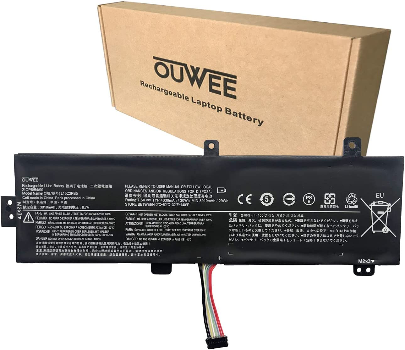OUWEE L15C2PB5 Laptop Battery Compatible with Lenovo IdeaPad 510-15ISK/15IKB 310-15ABR/15IAP/15IKB/15ISK 310 Touch-15IKB/15ISK Series L15M2PB5 L15M2PB3 L15C2PB3 L15C2PB7 L15L2PB4 L15L2PB5 L15S2TB0