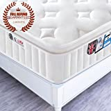 5FT UK King Size 3D Breathable Fabric Pocket Sprung Mattress with Memory Foam - Multi-Functional 9-Zone Orthopaedic Mattress