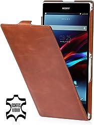 StilGut Ultraslim per Sony Xperia Z Ultra XL39h, marrone vintage