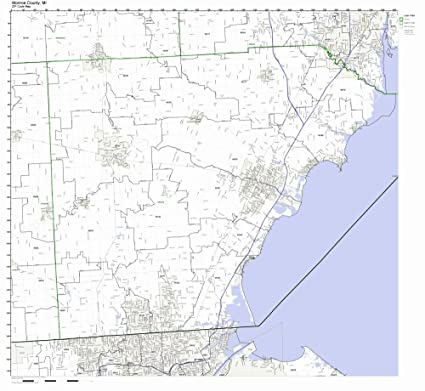 Amazon.com: Monroe County, Michigan MI ZIP Code Map Not Laminated ...