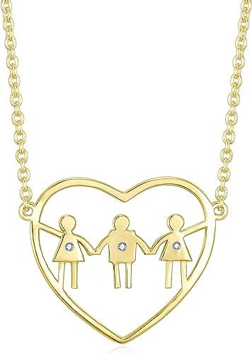 Mamá día de la madre tener hijos niños mano amor corazón colgante collar cadena