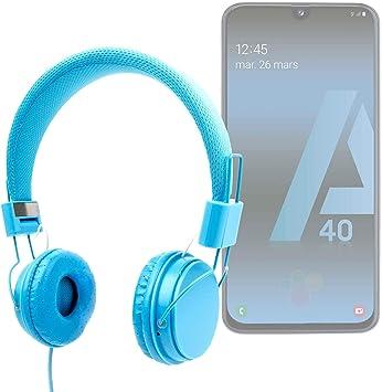 DURAGADGET Auriculares De Diadema Color Azul para Smartphone ...