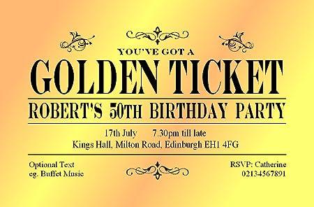 40 golden ticket birthday invitations personalised for you card 40 golden ticket birthday invitations personalised for you card 18th 21st 30th 40th 60th birthday filmwisefo