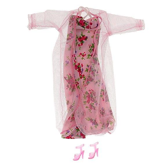 Amazon.es: Accesorios Ropa Pijamas Encaje Fijado Flores Rosa Muñecas Barbie: Juguetes y juegos