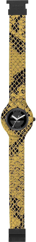 Reloj HIP HOP por Mujer Leather con Correa de silicio, Cuero, Movimiento Time Just - 3H Cuarzo