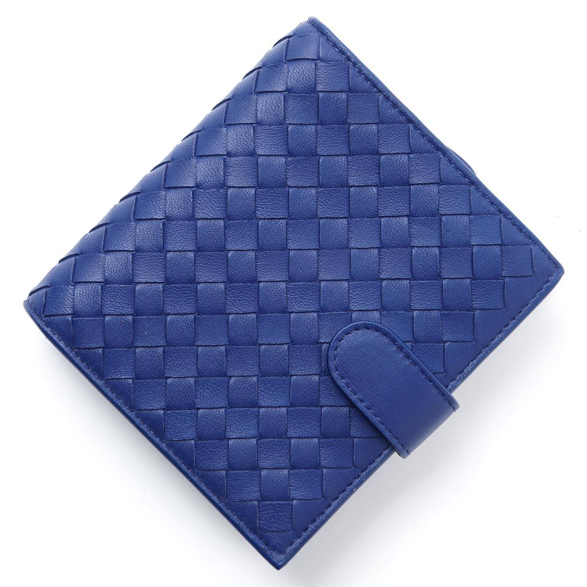 (ボッテガヴェネタ) BOTTEGA VENETA 2つ折り財布 小銭入れ付き/NAPPA [並行輸入品] B07BKYHQTT Free|Cobalt Cobalt Free